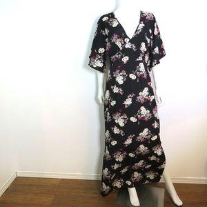Influence Kimono Sleeve Floral Maxi Dress